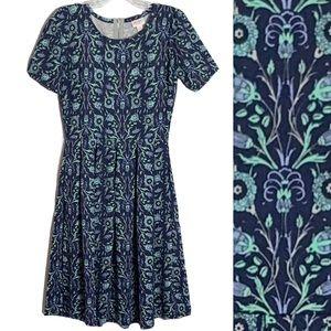 LuLaRoe | Amelia Dress Striped Pockets Pleated
